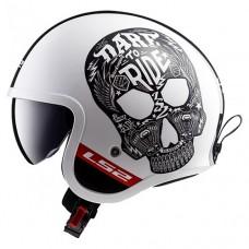 Шлем LS2 OF599 Spitfire Inky White Black