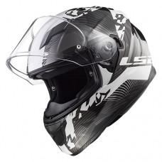 Шлем LS2 FF320 Stream Evo Hype Black White Titanium