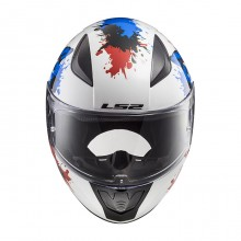 Шлем детский LS2 FF353J RAPID MINI MONSTER White Blue