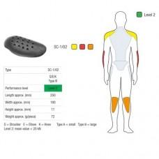 Протекторы плечей/ локтей /коленей SAS-TEC (с липучкой) Level 2 black (пара) SC-1/02 VELCRO