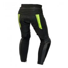 Штаны кожаные OZONE VOLT black/flo yellow