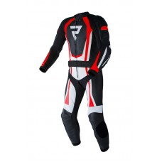 Штаны кожаные REBELHORN PISTON II PRO black/white/flo red