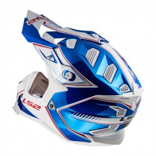 Шлем LS2 MX470 Subverter Power Chrome Blue
