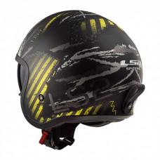 Шлем LS2 OF599 Spitfire Garage Matt Black Yellow