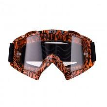 Очки кросс-эндуро IMX MUD graphic orange/black (прозрачная линза)