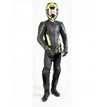 Куртка кожаная OZONE VOLT black/flo yellow
