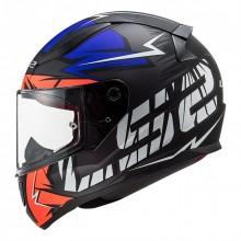 Шлем LS2 FF353 Rapid Chromo Matt Fluo Orange Blue