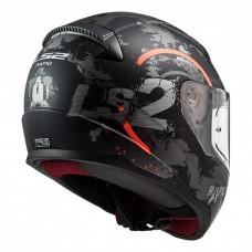 Шлем LS2 FF353 RAPID Circle Matt Titanium Fluo Orange