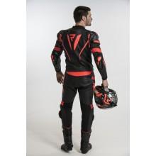 Куртка кожаная Rebelhorn Rebel Black/Flo Red