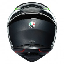Шлем AGV K1 Power Gunmetal White Green
