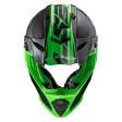 Шлем LS2 MX437 Fast Evo Roar Matt Black Green
