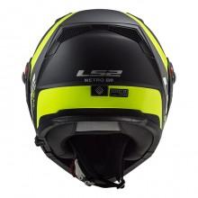 Шлем LS2 FF324 Metro Evo P/J Rapid Matt Black H-V Yellow