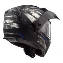 Шлем LS2 FF324 Metro Evo P/J Buzz Matt Black Titanium Blue