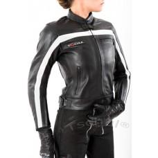 Куртка женская TSCHUL 5700 черно-белая
