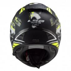 Шлем LS2 FF397 Vector HPFC Evo Stencil Matt Black H-V Yellow