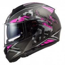 Шлем LS2 FF397 Vector HPFC Evo Stencil Matt Titanium Purple