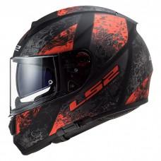 Шлем LS2 FF397 Vector HPFC Evo Swipe Matt Black Red