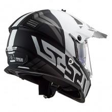 Шлем LS2 MX436 Pioneer Evo Evolve Matt Black White