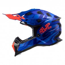 Шлем LS2 MX470 Subverter Troop Matt Blue Fluo Orange