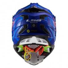 Шлем LS2 MX470 Subverter Troop Matt Blue Fluo Orange