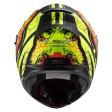 Шлем LS2 FF320 Stream Evo Throne Matt Black H-V Yellow