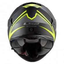 Шлем LS2 FF800 Storm Nerve Matt Black H-V Yellow