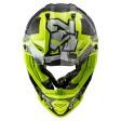 Шлем LS2 MX437 Fast Evo Crusher Black H-V Yellow
