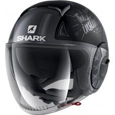 Шлем SHARK NANO TRIBUTE Mat RM Black Anthracite Silver