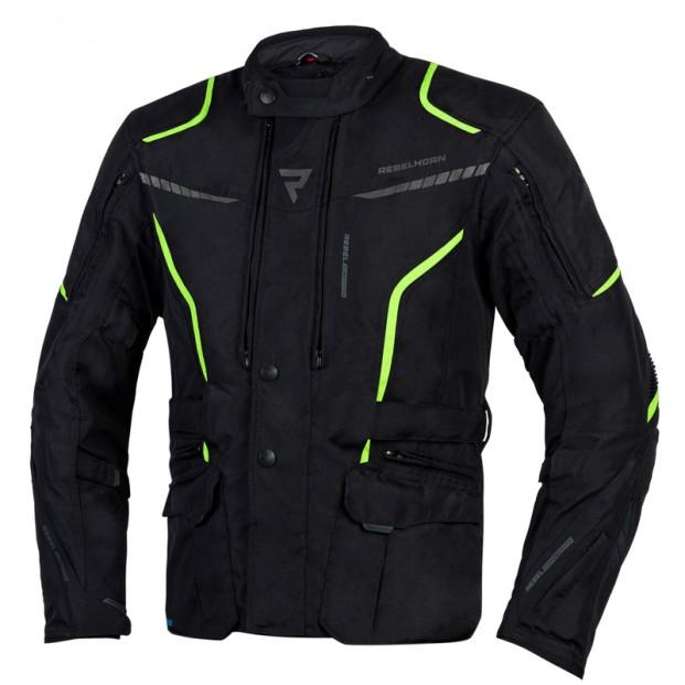 Куртка тестильная REBELHORN HIKER III BLACK/FLO YELLOW