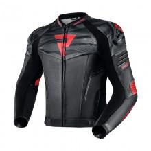 Куртка кожаная REBELHORN VANDAL BLACK/FLO RED