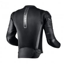 Куртка кожаная с текст вставками REBELHORN VANDAL AIR BLACK