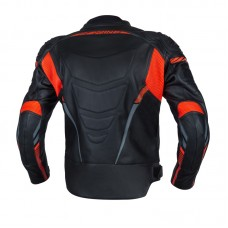Куртка кожаная OZONE RS600 BLACK/FLO RED