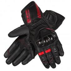 Перчатки кожаные OZONE RS600 BLACK/FLO RED