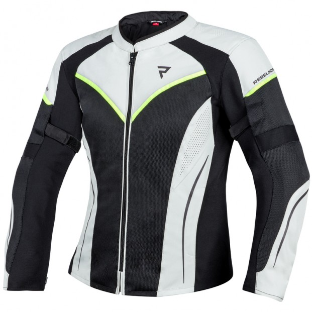Куртка тестильная REBELHORN FLUX LADY BLACK/ICE/FLO YELLOW