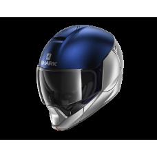 Шлем SHARK EVOJET DUAL BLANK Silver Blue Silver