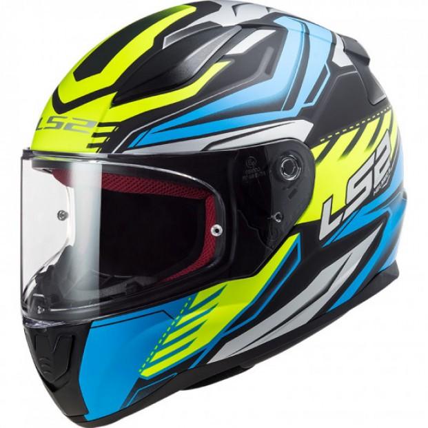 Шлем LS2 FF353 RAPID GALE MATT BLACK BLUE YEL.