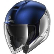 Шлем SHARK CITYCRUISER DUAL BLANK Mat Silver Blue Silver