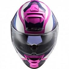 Шлем LS2 FF800 STORM TECHY WHITE PINK