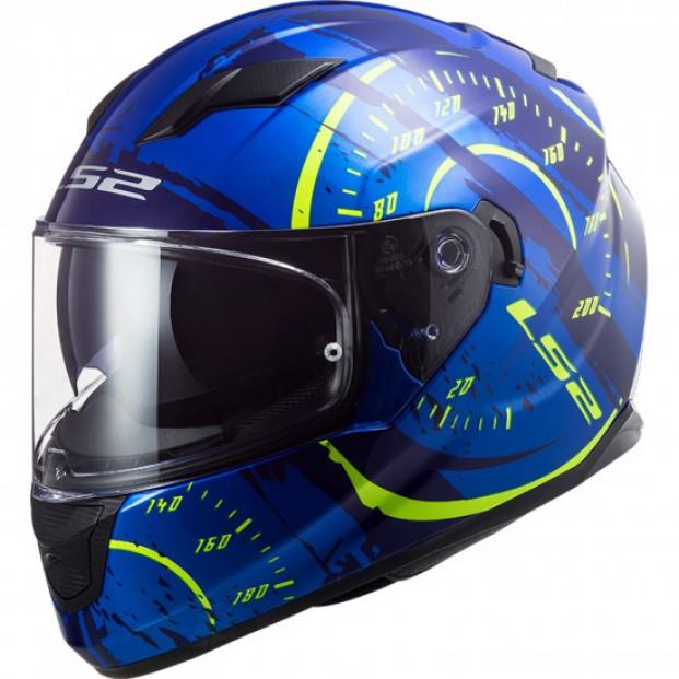 Шлем LS2 FF320 STREAM EVO TACHO BLUE H-V YELLOW