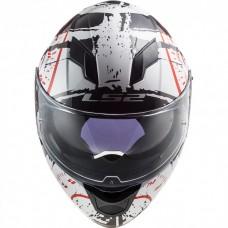 Шлем LS2 FF320 STREAM EVO TACHO WHITE BLACK RED